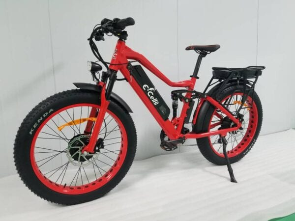 Candy Apple Red AWD Super Monarch 1000W E-Bike, E-Cells